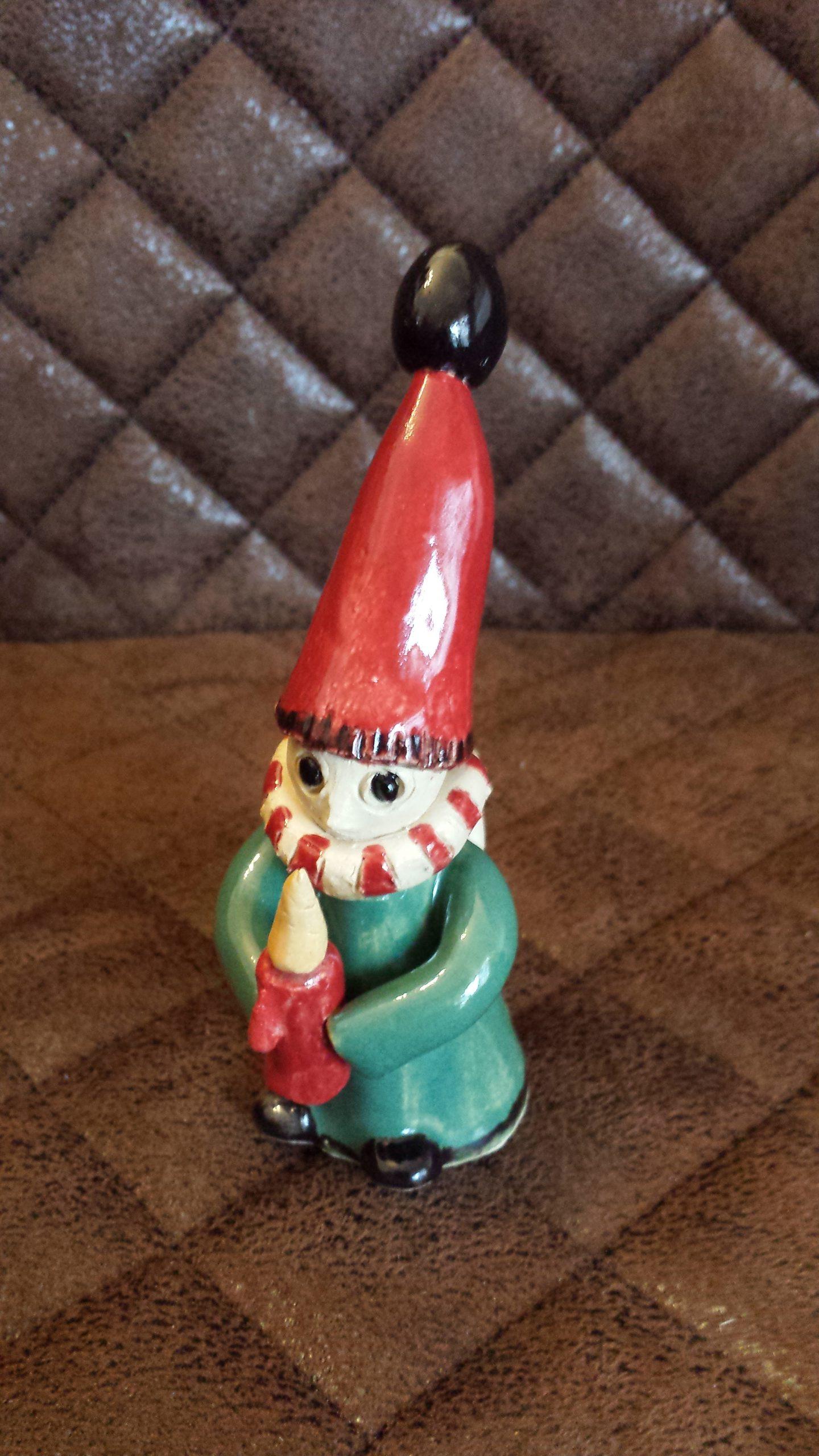 kleiner Wichtel aus Ton...originelles Geschenk...KeraMik von Herz zu Herz, Weihnachten