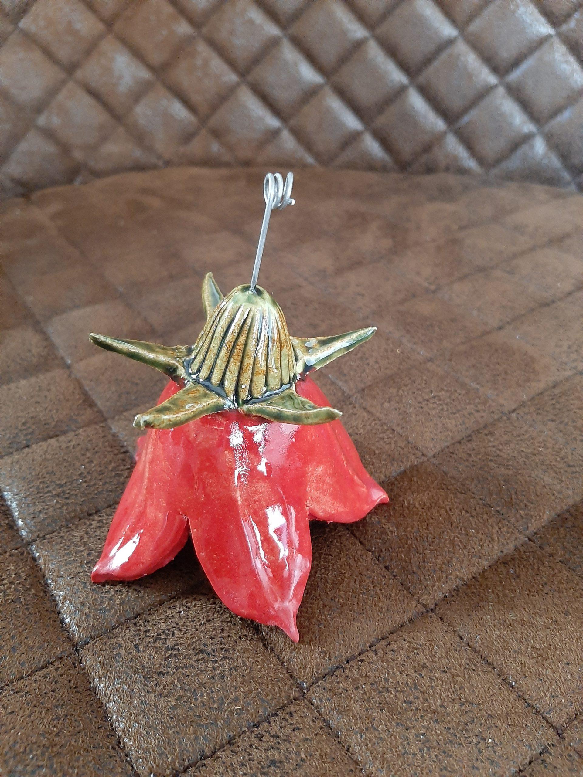 Blume, Glockenblume, Frühling, Handarbeit, individuelle Geschenke, Geschenke mit Herz, KeraMik von Herz zu Herz, Augsburg nahe dem Dom, Kunst aus Ton, Keramik in Szene gesetzt