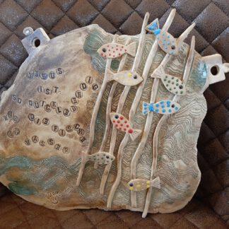 Kunst, Pottery, Erinnerungsfliiese, Motivation, Zuversicht, Glaube, Hoffnung,, liebevolle Handarbeit, Originelles, Clay Art, Augsburg, KeraMik von Herz zu Herz, besondere Geschenke