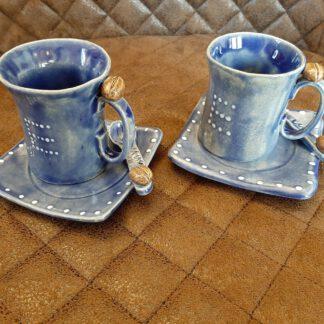 Espressotassen Set, Augsburger City, Clay Artist, KeraMik von Herz zu Herz, originelle Handarbeit, Motivation, individuelle Geschenke, Pottery, Einzelstücke