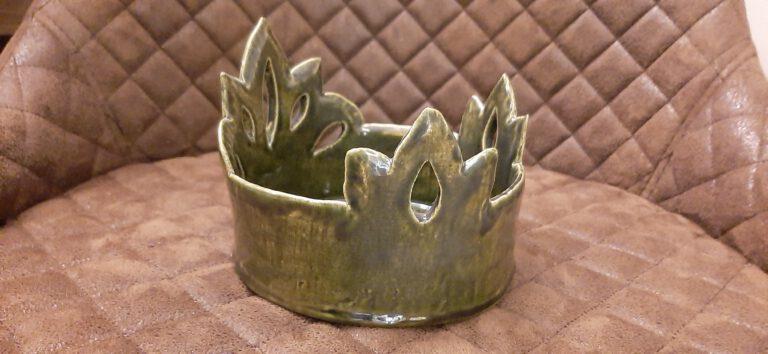 Krone, Kronenschale, KeraMik von Herz zu Herz, Handarbeit, Clayartist