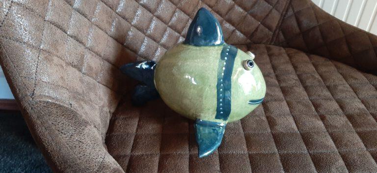 Fisch, Keramik, getöpferters Fischchen, KeraMik von Herz zu Herz, Augsburger City, Handarbeit, Geschenke