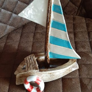 Segelschiff, Handarbeit, Keramikschiff, KeraMik von Herz zu Herz, Augsburg, Clay Artist