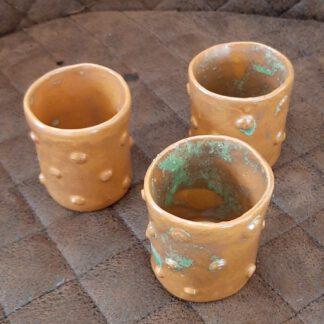 Keramik Schnapsbecher, Keramik , Augsburg, Handarbeit, Unikate, KeraMik von Herz zu Herz