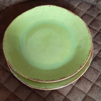 grüne Teller, Keramik Geschirr, KeraMik von Herz zu Herz, Augsburg, Handarbeit, Einzelstücke