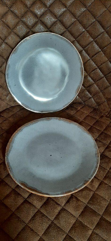 graue Teller, Keramik Geschirr, KeraMik von Herz zu Herz, Augsburg, Handarbeit, Einzelstücke