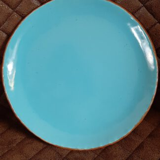blauer Teller, Keramik Geschirr, KeraMik von Herz zu Herz, Augsburg, Handarbeit, Einzelstück