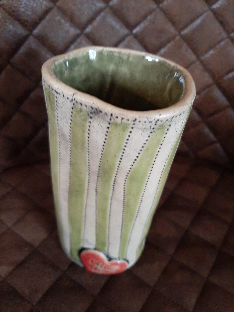 Vase, Handarbeit, Keramik, KeraMik von Herz zu Herz, Unikate, Augsburg