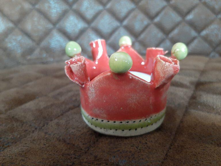 Rosenkronen Teelichthalter, Augsburg, Handarbeit, Keramik, KeraMik von Herz zu Herz, Geschenke