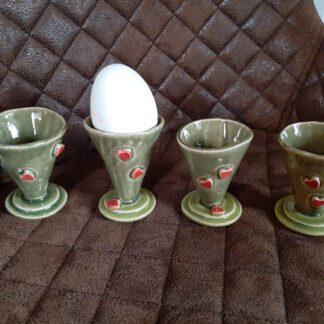 Eierbecher, Handarbeit, Keramik, Augsburg, Unikate, KeraMik von Herz zu Herz, Clay Artist