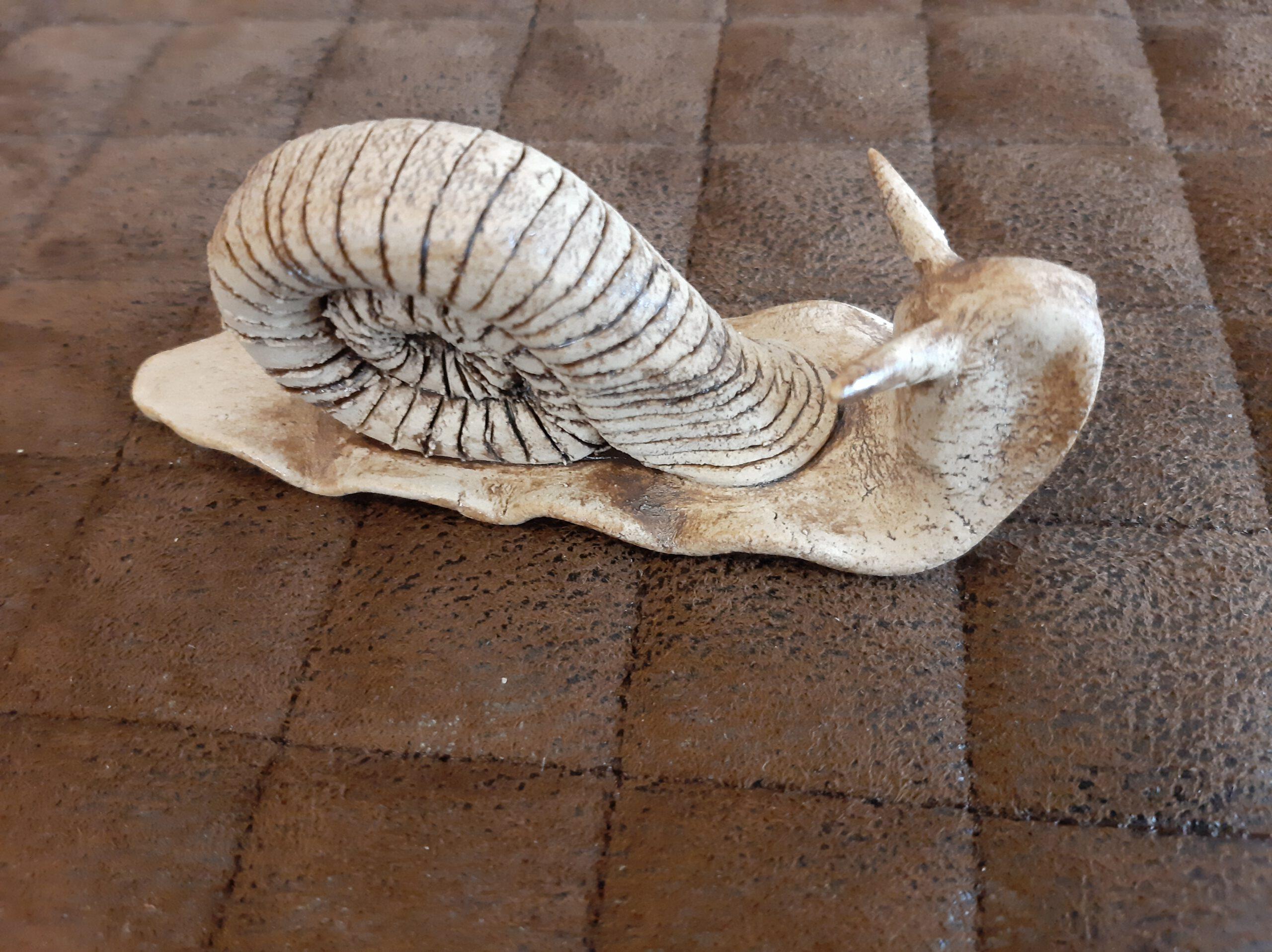 Keramiktiere, Schnecken, Keramik, KeraMik von Herz zu Herz, Augsburg, Clayart, Kunst aus Ton